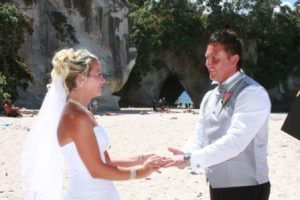 Cathedral Cove wedding