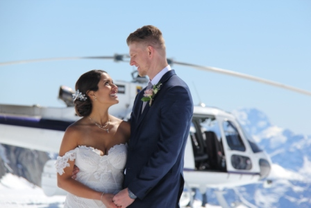 Queenstown heli wedding New Zealand