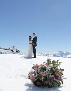 Isobell Glacier wedding New Zealand