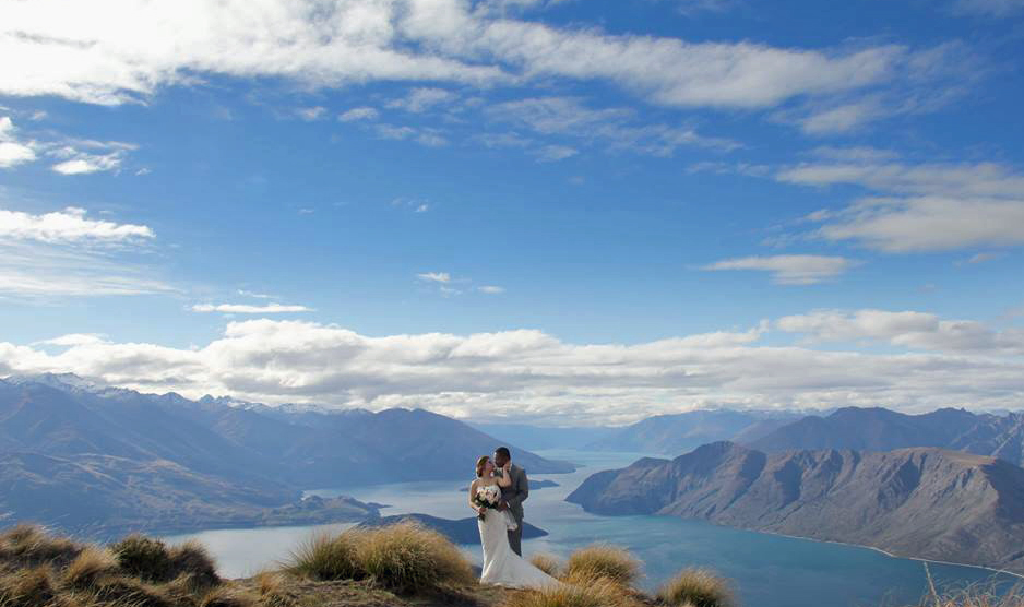 Helicopter wedding New Zealand